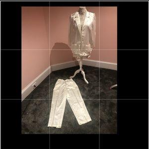 Vintage satin feeling pants and jacket combo